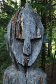 Face Of Wooden Totem