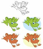 Frog Hopping.Vector Collection
