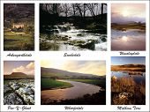 picture of swales  - a digital picture postcard of the yorkshire dales collage put together from my own images - JPG