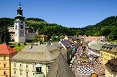 stock photo of banska  - Historic mining town Banska Stiavnica - JPG
