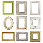 image of shabby chic  - Collection of shabby chic distressed picture frames - JPG