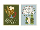 Festival Vector Ornate Illustration. Oktoberfest Detailed Card With Lettering Quote. You Are Here Fo poster