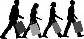 Vetor de grupo de compras