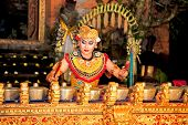 BALI - JANUARY 19: Legong Trance & Paradise Dance in Ubud Palace. Ubud Palace is the most popular lo