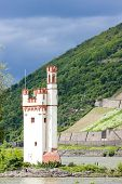 Binger Maeuseturm, Mouse Tower on Mouse Island, Rhineland-Palatinate, Germany