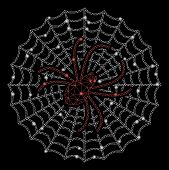 Flare Mesh Spider Net With Glitter Effect. Abstract Illuminated Model Of Spider Net Icon. Shiny Wire poster