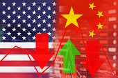 Trade War, Us And China Trade War Economy Conflict Turmoil And Global Economic Gloom Cast A Dark Sha poster