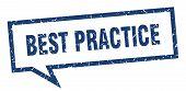 Best Practice Sign. Best Practice Square Speech Bubble. Best Practice poster