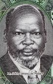 SOUTH SUDAN - CIRCA 2011: John Garang de Mabior (1945-2005) on 1 Pound 2011 Banknote from South Suda