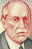 URUGUAY - CIRCA 1998: Eduardo Acevedo Vasquez (1857-1848) on 10 Pesos Uruguayos 1998 Banknote from U