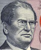 YUGOSLAVIA- CIRCA 1985: Josip Broz Tito (1892-1980) on 5000 Dinara 1985 Banknote from Yugoslavia. Yu