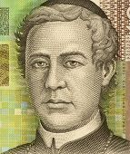 CROATIA - CIRCA 2001: Juraj Dobrila (1812-1882) on 10 Kuna 2001 banknote from Croatia. Bishop and be