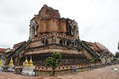 Tourist Attractions In Chedi Temple, Chiang Mai, Thailand poster