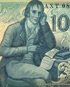 PORTUGAL - CIRCA 1981: Manuel Maria Barbosa du Bocage (1765-1805) on 100 Escudos 1981 banknote from
