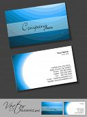 Professional business card set, template or visiting card. Artistic, abstract corporate look in blue