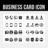 Business Card Icon Contact Symbol Vector Image poster