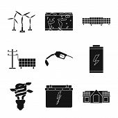 Isolated Object Of Climate And Alternative Icon. Collection Of Climate And Nature Vector Icon For St poster