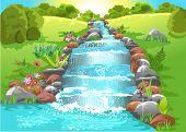 water spring in natural landscape