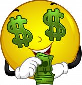 Illustration Featuring a Money-loving Smiley