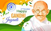 Colorful Poster Or Card Design For The Gandhi Jayanti Holiday Celebration In India On The 2nd Octobe poster