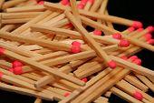 image of sulfur tip  - pile of matchsticks - JPG