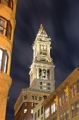 The historic Custom House Tower built 1915 in Boston, Massachusetts.