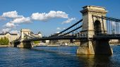 Budapest, the Chain Bridge is a suspension bridge on the River Danube, the first permanent bridge be