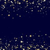 Gold Falling Star Sparkle Elements Of Glitter Gradient Vector Background. Luxurious Confetti Gold St poster