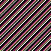Pink Greens Black & White Diagonal Stripe Paper