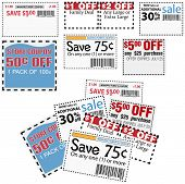 picture of thrift store  - Clip this group of six print coupons as elements store sale ad designs - JPG