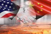 Usa And China Trade War Economy Conflict Tax Business Finance Money / United States Raised Taxes On  poster
