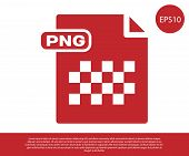 Red Png File Document. Download Png Button Icon Isolated On White Background. Png File Symbol. Vecto poster
