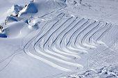 Kaprun ski slopes, Austrian Alps