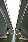 Double concrete bridge