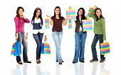 Grupo de mujeres de compras