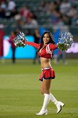CARSON, CA. - APRIL 9: Chivas USA cheerleaders during the MLS game between Columbus Crew & Chivas USA on April 9 2011 at the Home Depot Center.