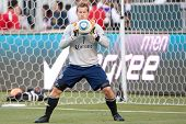 CARSON, CA. - APRIL 30: Chivas USA goalkeeper Dan Kennedy #1 during the MLS game on April 30 2011 at