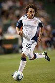 CARSON, CA. - APRIL 30: New England Revolution defender Kevin Alston #30 during the MLS game on Apri