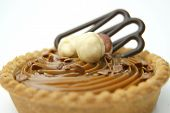 Cake with nougat.