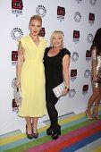 LOS ANGELES - APR 12:  Cherish Lee, Charlene Tilton arrives at Warner Brothers