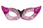 Sequined Pink Party Mask