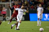 CARSON, CA. - OCT 1: Los Angeles Galaxy F Landon Donovan #10 & Real Salt Lake M Yordany Alvarez #14