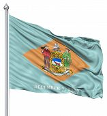 Waving Flag of USA state Delaware