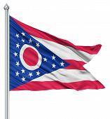 Waving Flag of USA state Ohio