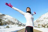 Sport Runner Woman Freedom Success