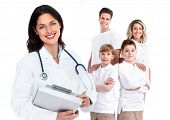 pic of influenza  - Family doctor woman - JPG