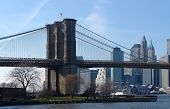 Brooklyn Bridge And New York