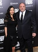 LOS ANGELES - DEC 09:  James Gandolfini & Deborah Lin arrives to the