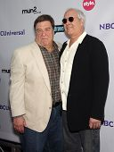 LOS ANGELES - AUG 02:  JOHN GOODMAN & CHEVY CHASE arriving to Summer 2011 TCA Party - NBC  on August