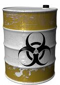 Barrel With A Symbol Of Bio Hazard Rotated